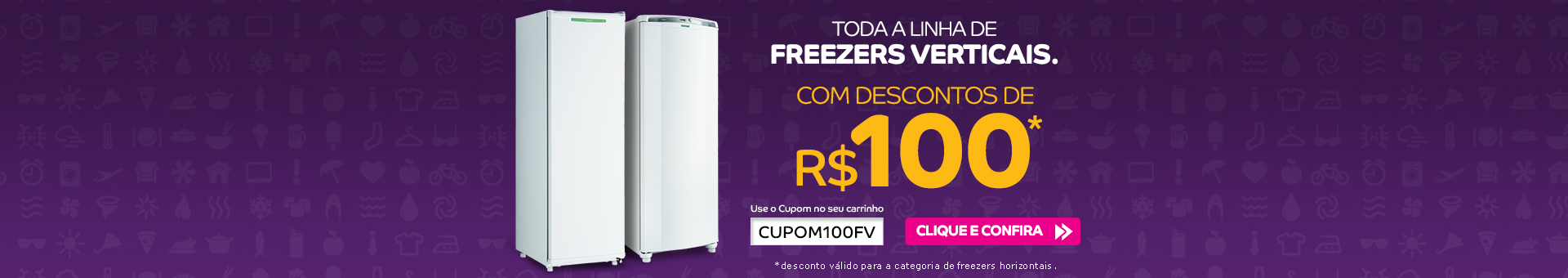 Banner Cupom Freezers Verticais