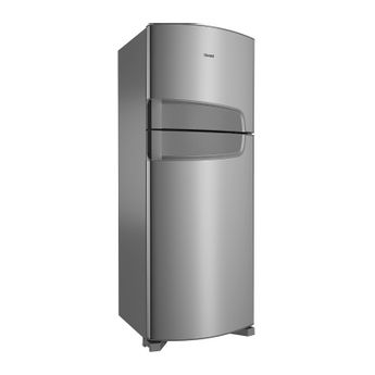 Geladeira 450 Litros: geladeira duplex inox Bem Estar Consul - Geladeira 450 Litros CDR49AK - Visão em perspectiva